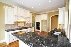 Black Granite kitchen white cabinets Exclusive Marble & Granite Greensboro