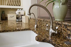 white undermount sink Granite kitchen Exclusive Marble & Granite Greensboro